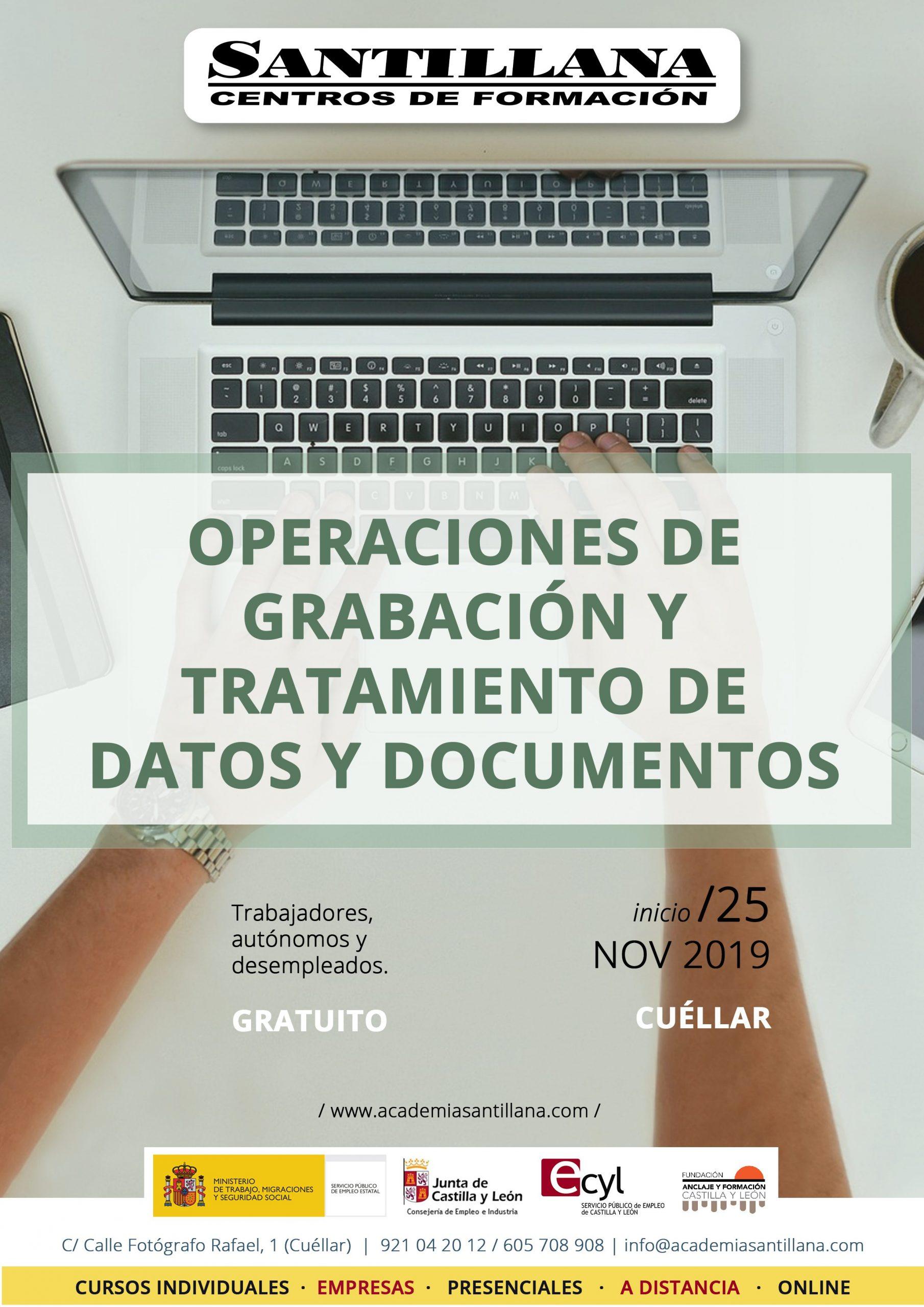 Curso de Operaciones de Grabación y Tratamiento de Datos y Documentos Santillana Formación Cuéllar