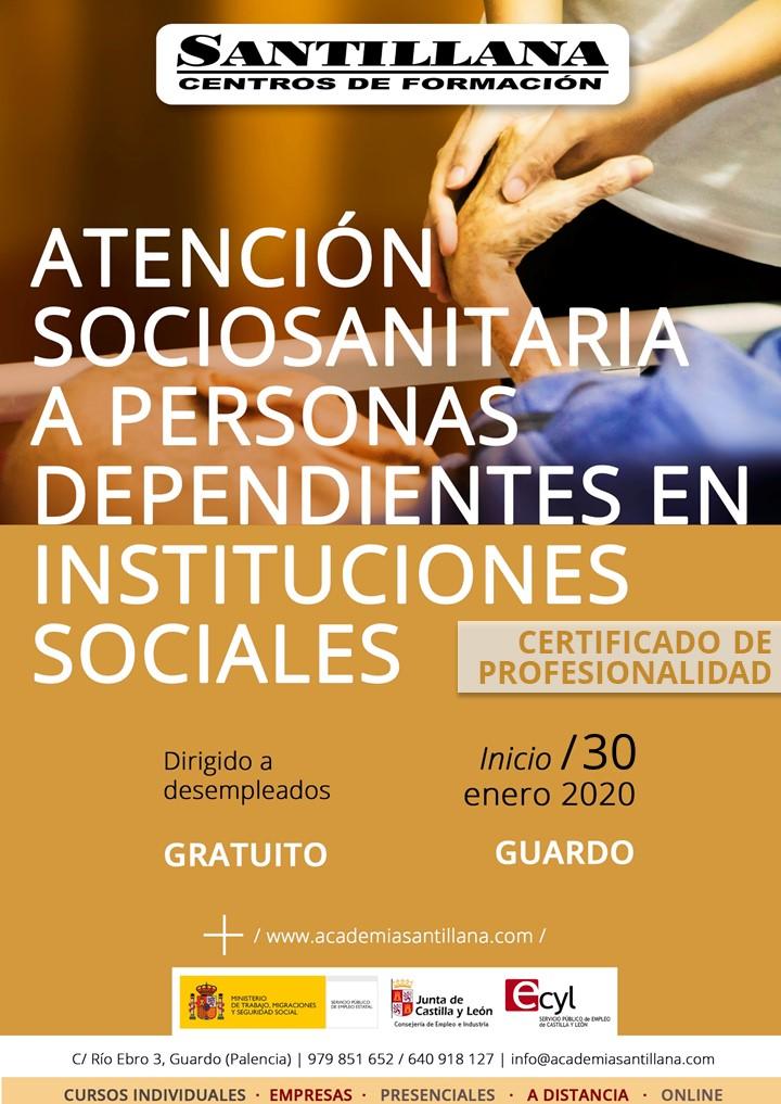 Curso Gratuito Atención Sociosanitaria a Personas Dependientes en Instituciones Sociales Guardo