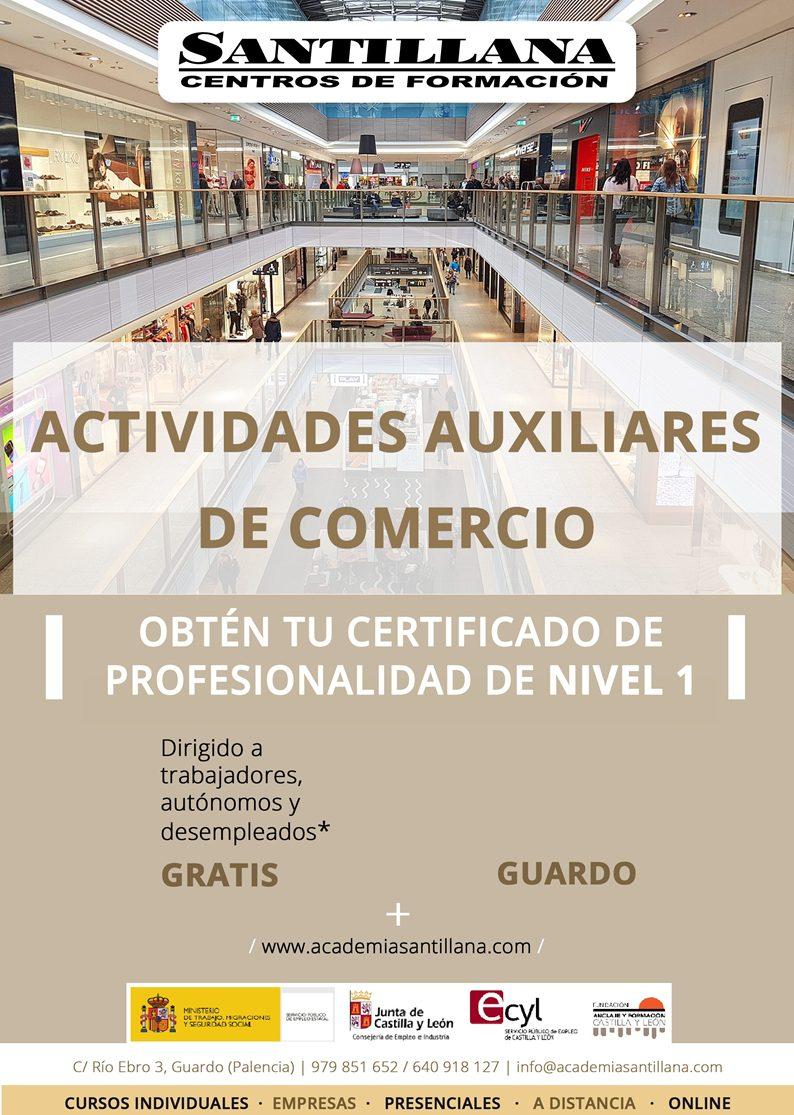 Curso Gratuito Actividades Auxiliares de Comercio Guardo Santillana Formación