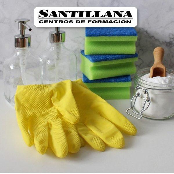 Curso Online de Manipulacion de productos químmicos de limpieza inmueble Santillana Formación